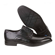 黄金尺码,真皮+直接注塑,久穿不脱跟:Ecco爱步 男士 正装皮鞋 MELBOURNE 42码