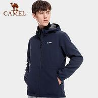 商场同款,抗静电防泼水:骆驼 男女 户外软壳衣冲锋外套
