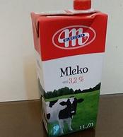 妙可 Mlekovita 全脂纯牛奶 1Lx12盒
