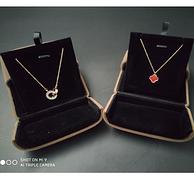Bo姐直播同款 真钻、同行3倍镀金、证书、丝绒礼盒:女士9微米项链
