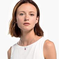 2020年新款 Swarovski 施华洛世奇 TROPICAL 粉色绽放项链