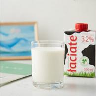 波兰进口,Laciate 兰雀 高温灭菌全脂牛奶 0.5Lx8盒