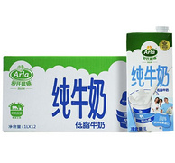 Arla 爱氏晨曦 低脂纯牛奶 1L*12盒x2箱