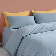 A类标准,32支精梳长绒棉,羊绒磨毛触感:DAPU大朴 纯色床上4件套 1.5m