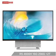 Lenovo 联想 YOGA 27 27英寸一体机台式机(R5-4600H、16GB、 2TB+256GB、 4K)