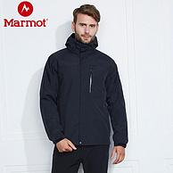 值哭!1日0点:Marmot 土拨鼠 男士MemBrain防水保暖三合一冲锋衣L40460 549元包邮(之前推荐899元)