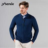 1日0点:神价格、日本顶级品牌! Phenix 羊毛混纺 男保暖抗起球针织开衫 399元(长期1529元)