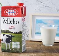 0点:好口感可囤货,1Lx12盒x4件 波兰进口 MLEKOVITA 妙可 全脂纯牛奶 212.23元包邮(折合4.4元/L)
