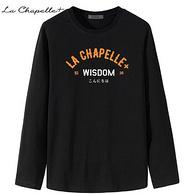 拉夏贝尔 男士宽松圆领纯棉长袖T恤