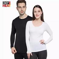 美国32 degrees heat 男女款修身低领超薄蓄热保暖内衣