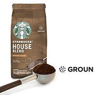 白菜价!0税费!200gx6袋 Starbucks星巴克 House Blend 中度烘焙研磨咖啡粉