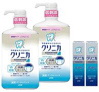 狮王 齿力佳 酵素洁净防护漱口水900mlx2瓶+迷你酵素牙膏30gx2支