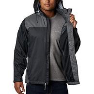 浅库存,隐藏式兜帽,全面抗污防风雨:Columbia哥伦比亚 男士 防水冲锋衣Glennaker Lake