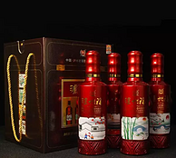 泸州老窖,泸州福 恒运祥福 52度白酒 500mLx4瓶 礼盒装