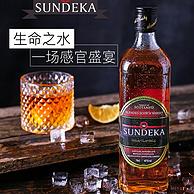 神价格!英国原瓶进口:700mlx6瓶 SUNDEKA圣蒂卡 苏打水冰红茶威士忌