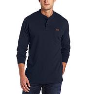 Wrangler Riggs Workwear 男士纯棉长袖亨利衫