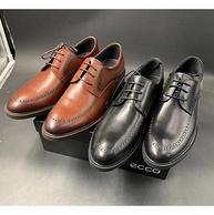新增黑色款!经典英伦风:ECCO 德比 布洛克雕花皮鞋 299元包邮