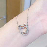 王一博同款系列 Swarovski 施华洛世奇 Infinity 女士双心形项链