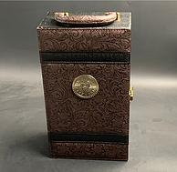 买手甄选:皮质礼盒装 750mlx2瓶 尊尼诗 西班牙进口葡萄酒