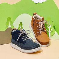 真牛皮鞋面,科学弯折护足:巴拉巴拉 男童 英伦风复古休闲鞋