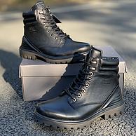 吴京同款、头层牛皮鞋面+橡胶鞋底:ECCO爱步 趣闯高帮马丁靴
