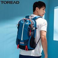 韩国进口210D尼龙,减震耐磨防泼水:30L Toread探路者 徒步系列 户外登山双肩包