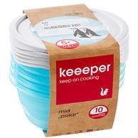 德国百年品牌,0.5Lx5个 多规格可选 KEEEPER 可微波加热PP材质冰箱收纳盒保鲜盒