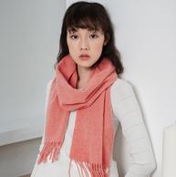 茵曼 2020新款100%纯羊毛+羊绒围巾 59元包邮