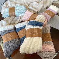 买手甄选:专治手脚冰凉、超级软糯!4双 女士 地板袜