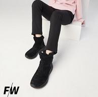 Toread 探路者 女士新款加绒加厚一脚蹬雪地靴