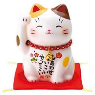 亚马逊销冠!日本 Yakushigama薬師窯 彩绘招福猫 大号40×30×18cm
