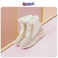 SPRANDI 斯潘迪 女式冬季加绒保暖高帮雪地靴