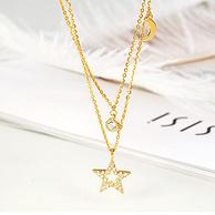 中国白银旗下,一款两戴:SISI S925纯银八芒星珍珠项链 6款
