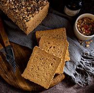 低脂轻卡、历史新低:七年五季 黑麦全麦面包 600gx2件 38.35元包邮