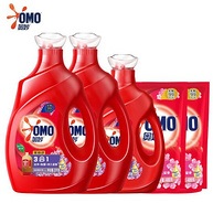 99.9%除菌、含金纺浓缩精华、近18斤:OMO 奥妙 洗衣液套装 17.92斤