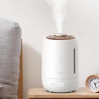 22点开始,大容量大雾量,抑菌触控:5L 德尔玛 家用加湿器DEM-F600