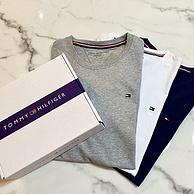 1周预售印度直邮!3件3色装!汤米 50支 男士精工T恤