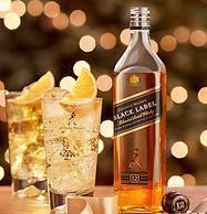 今晚0点抢!英国原产,陈酿超12年:700ml 尊尼获加 中端黑牌调配威士忌