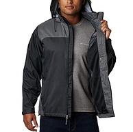 防水抗污渍,自收纳:Columbia哥伦比亚 男士 Glennaker Lake防水冲锋衣
