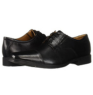 分层缓震鞋底,脚掌全贴合:Clarks其乐 男士 Tilden Cap皮鞋德比鞋