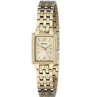 Seiko 精工 SXGL62 女士金色方形石英优雅时装腕表