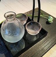 浅库存,日本原产:广田硝子 樱花酒器3件套 带提篮酒器HO-3000