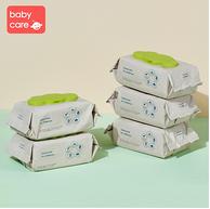 babycare 新生儿手口湿巾 带盖 80抽x5包x6件