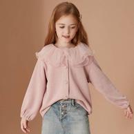 韩国ASK junior 2021春款女童儿童休闲针织开衫(110-170cm)