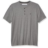 和国产一个价,CK卡尔文·克莱恩 男士 短袖亨利罗纹标志T恤