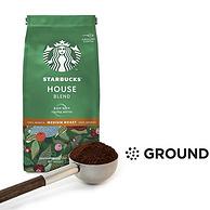 100%阿拉比卡豆,单件免税!200gx6袋 Starbucks星巴克 House Blend中度烘焙咖啡粉 Prime直邮到手183元(天猫1袋75元)