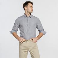 0.6折!Calvin Klein 卡尔文·克莱因 男士格子长袖衬衫