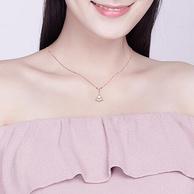 夏日秀锁骨,镂空工艺,可延长:京润 善缘 925银珍珠钻石项链 珍珠7-8mm