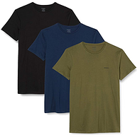 Diesel 迪赛 男士基础款纯棉短袖T恤 3件装 E4079