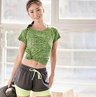 双层防走光:暴走的萝莉 LLDK263 运动短裤